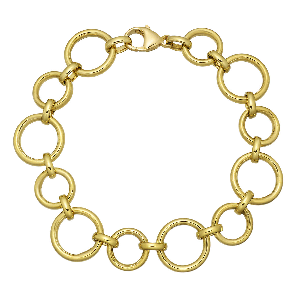 18k Yellow Gold Circle Link Bracelet
