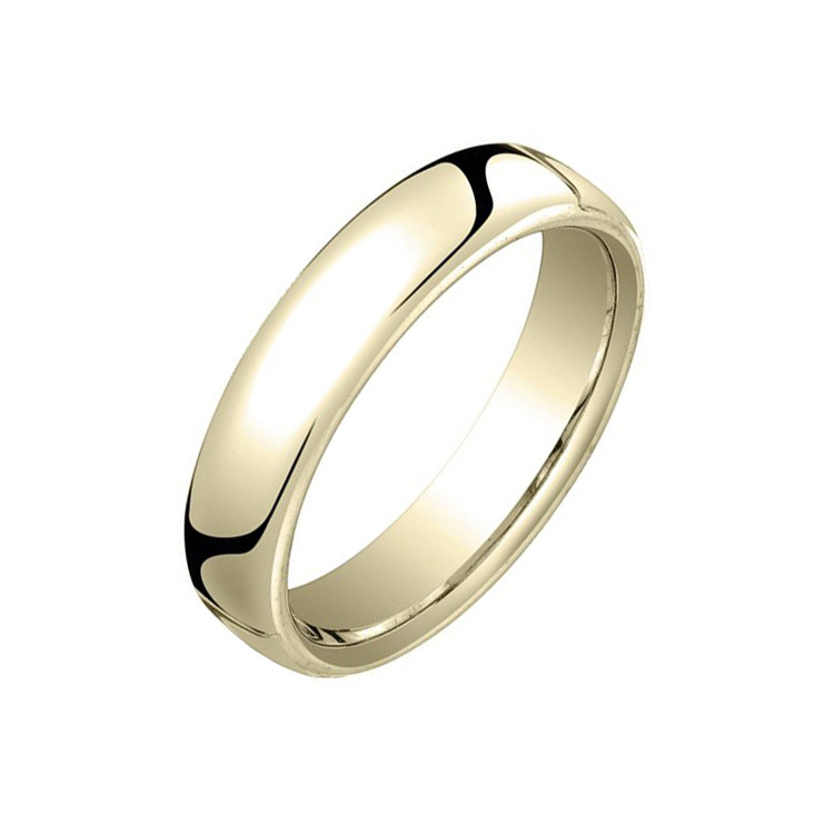18k Yellow Gold European Comfort Fit Wedding Band 4 5mm Betteridge