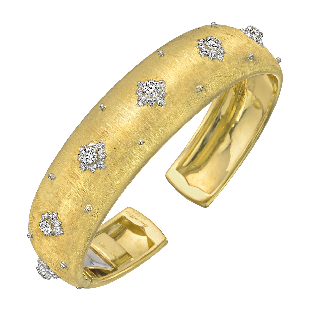 "18k Yellow Gold & Diamond ""Macri"" Cuff Bracelet"