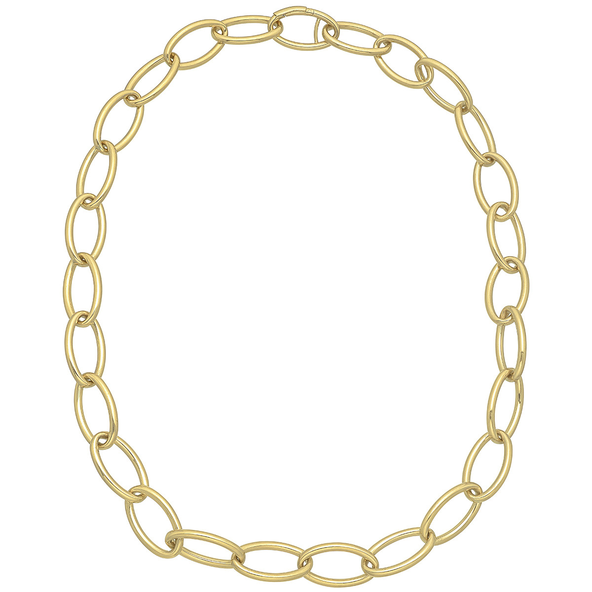 18k Yellow Gold Marquise Link Necklace