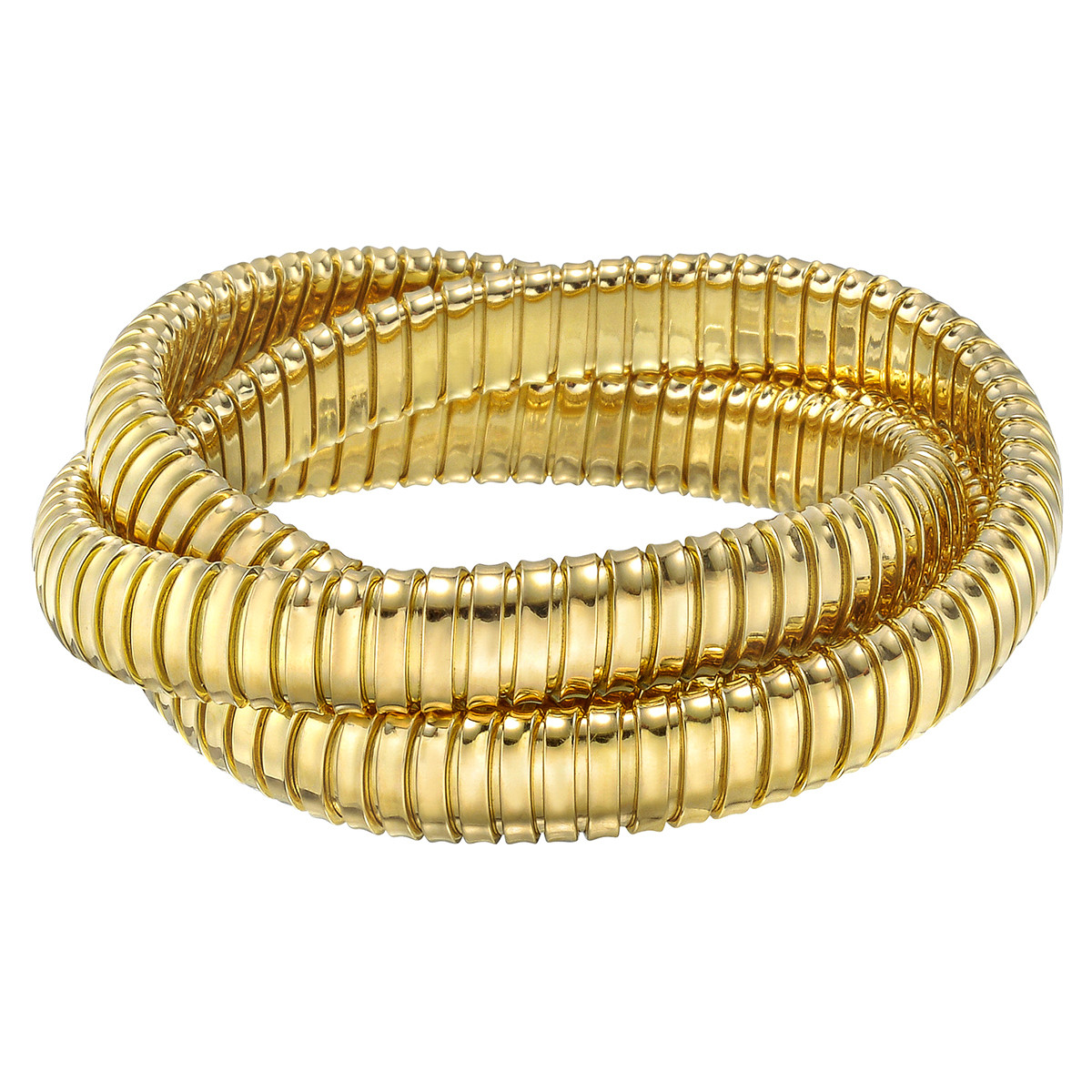 18k Yellow Gold Tubogas Rolling Bangle Bracelet