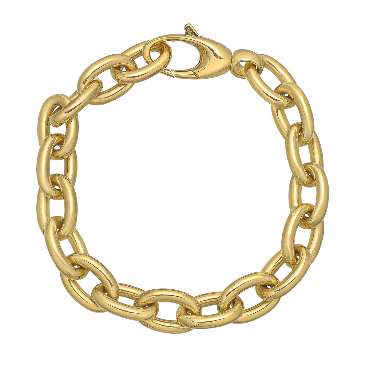 18k Yellow Gold Rolo Link Bracelet
