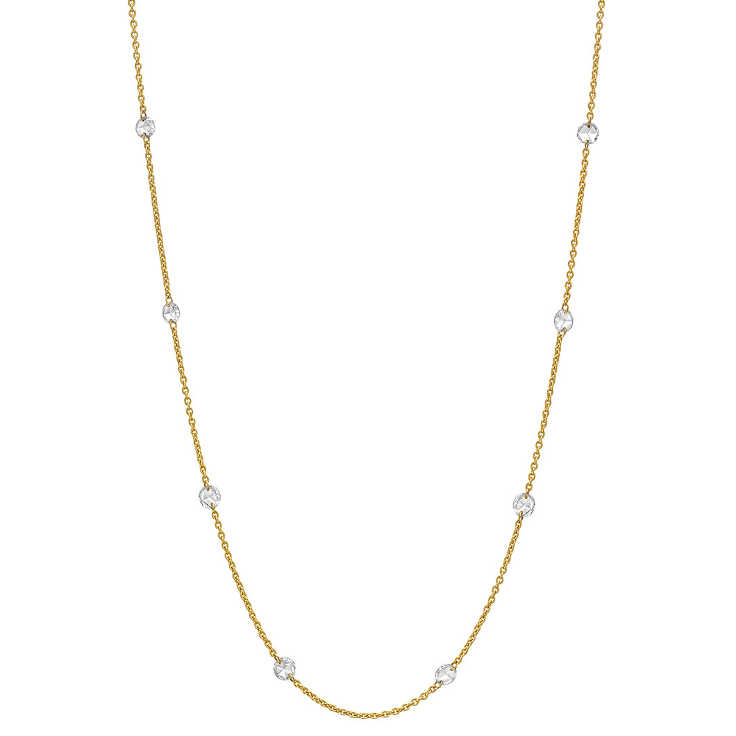 Rose-Cut Diamond Chain Necklace (1.44 ct tw)