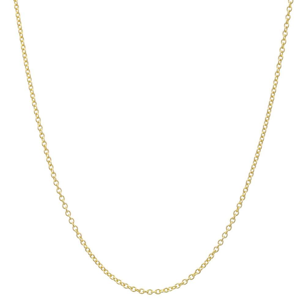"18k Yellow Gold Thin Chain Necklace (16"")"