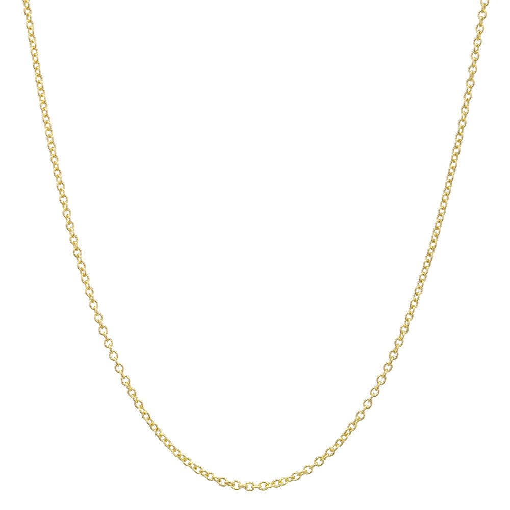 """18k Yellow Gold Thin Chain Necklace (30"""")"""