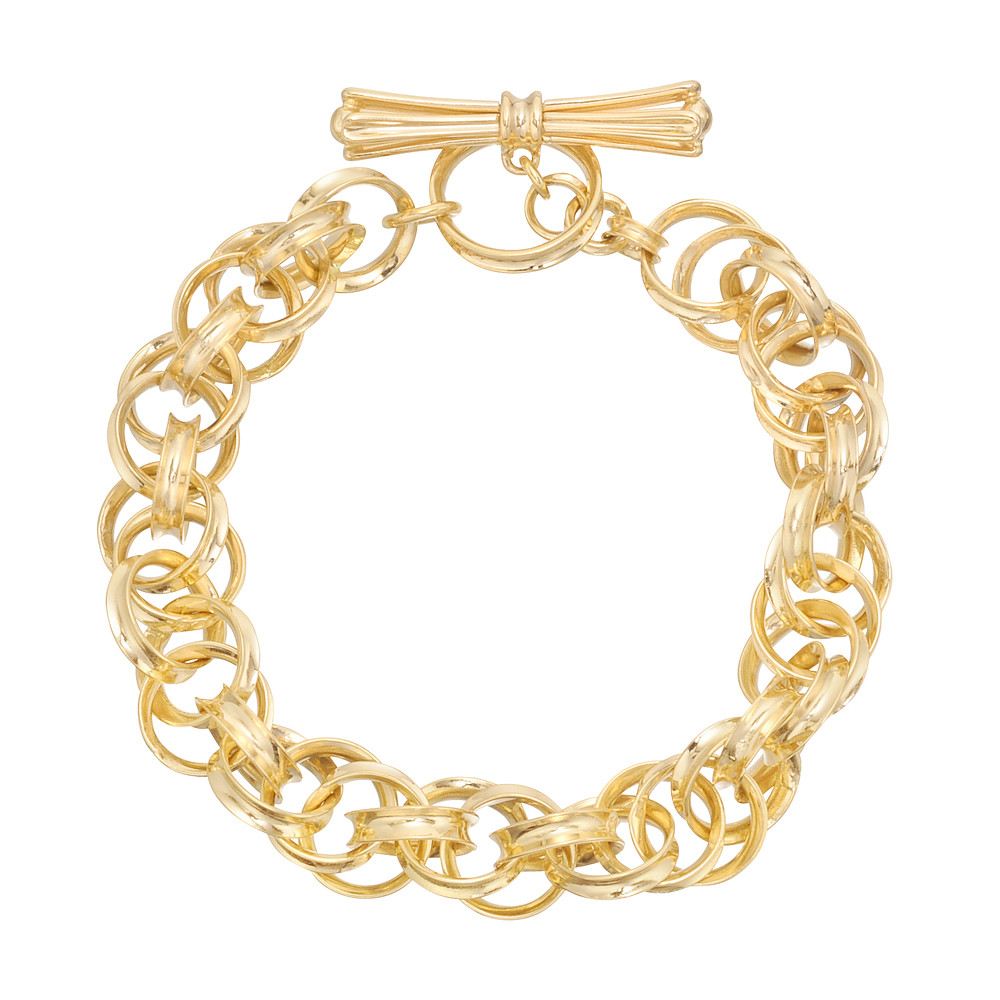 18k Yellow Gold Triple Cable Bracelet