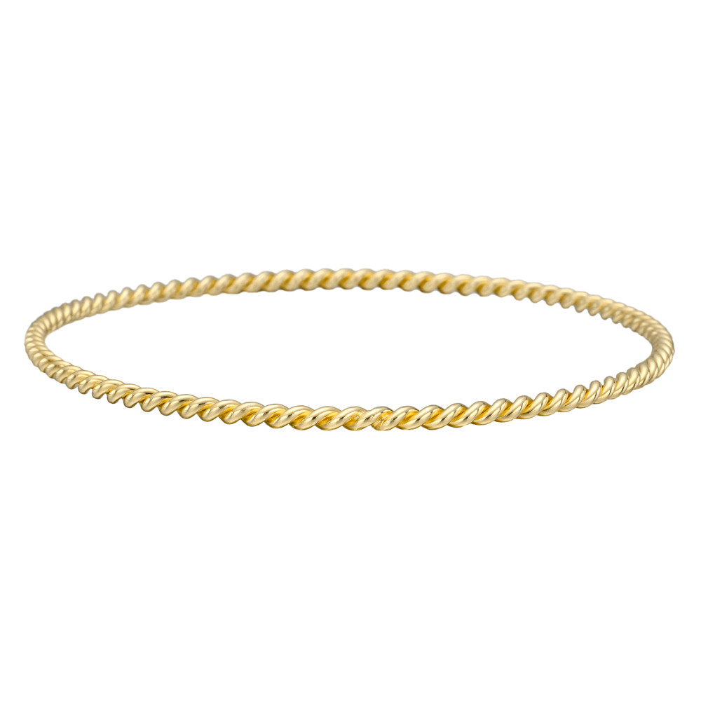 18k Yellow Gold Twistwire Bangle