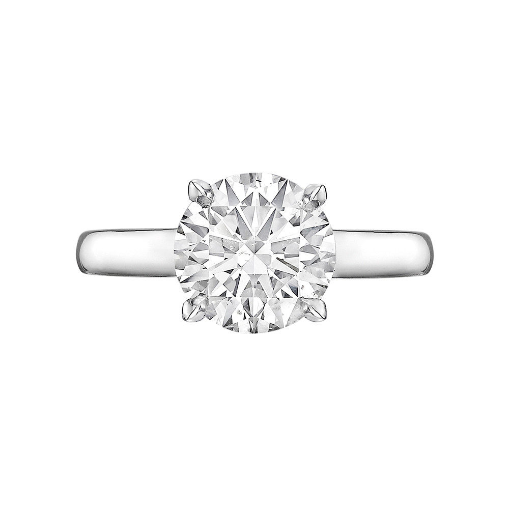 2.10 Carat Round Brilliant Diamond Ring