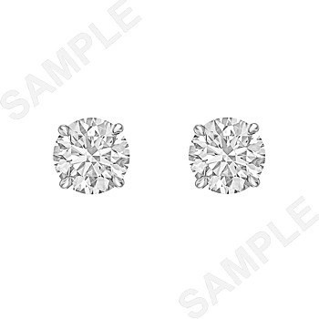 Round Brilliant Diamond Stud Earrings (2.04 ct tw)