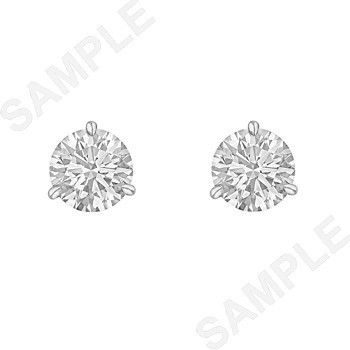 2.02tcw Round Brilliant Diamond Stud Earrings (F/SI1)