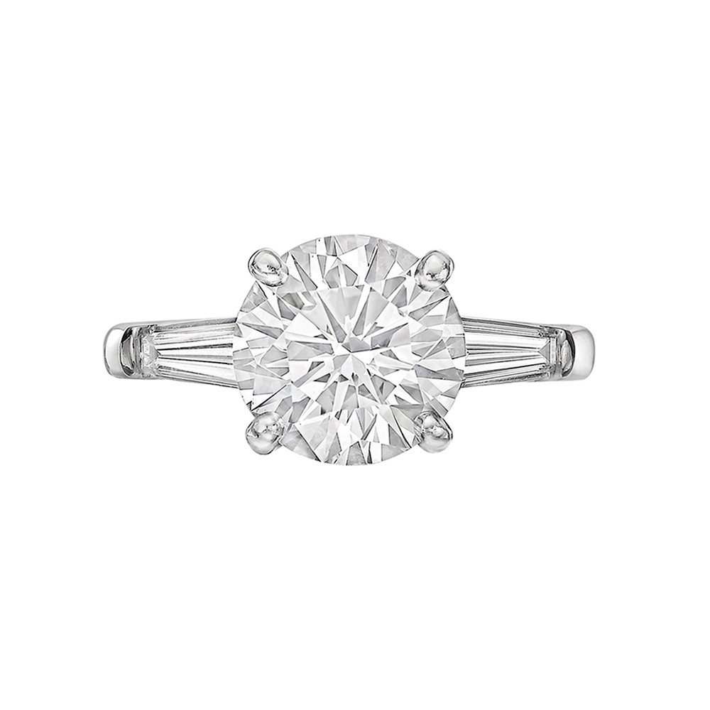 2.18 Carat Round Brilliant Diamond Ring