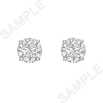Round Brilliant Diamond Stud Earrings (2.31 ct tw)