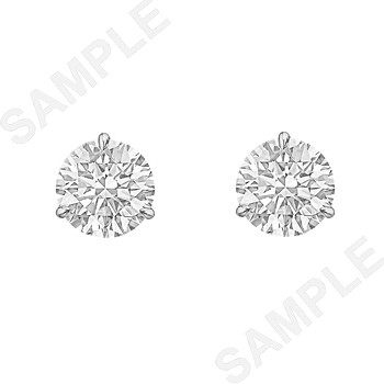 Round Brilliant Diamond Stud Earrings (2.42ct tw)