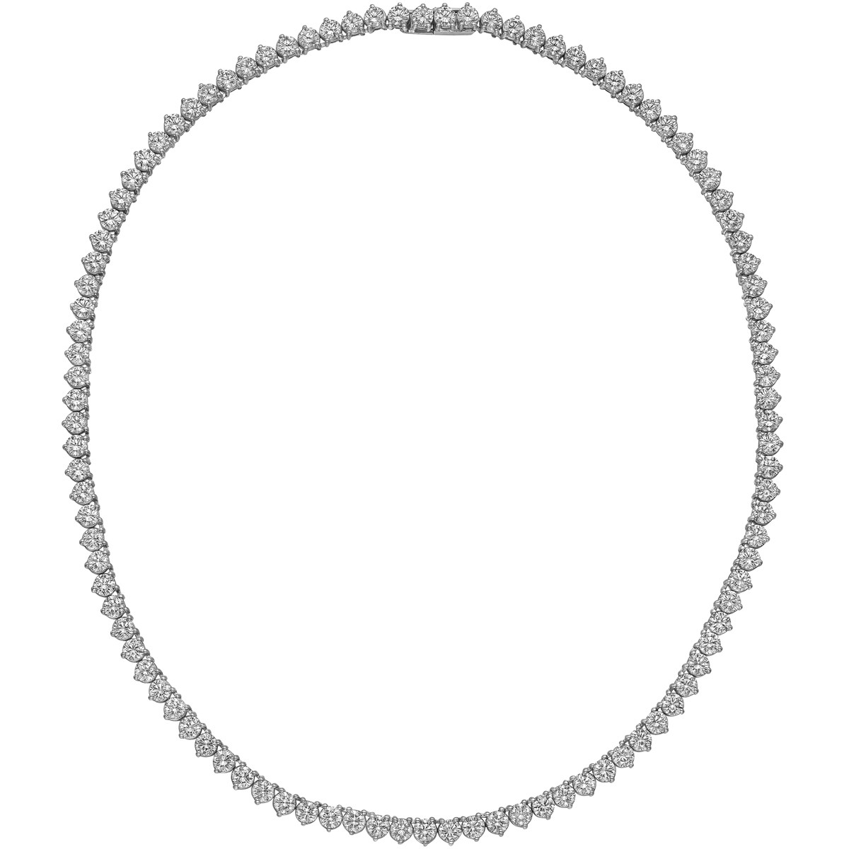 Round Brilliant Diamond Line Necklace (~20.10ct tw)