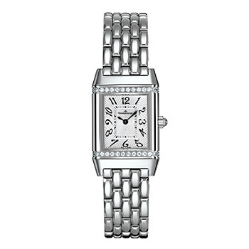 c25aced1d0baf The Jaeger-LeCoultre Reverso Lady (ref. 2658130) has a Swiss-made quartz  movement  silvered front dial with radial guilloche