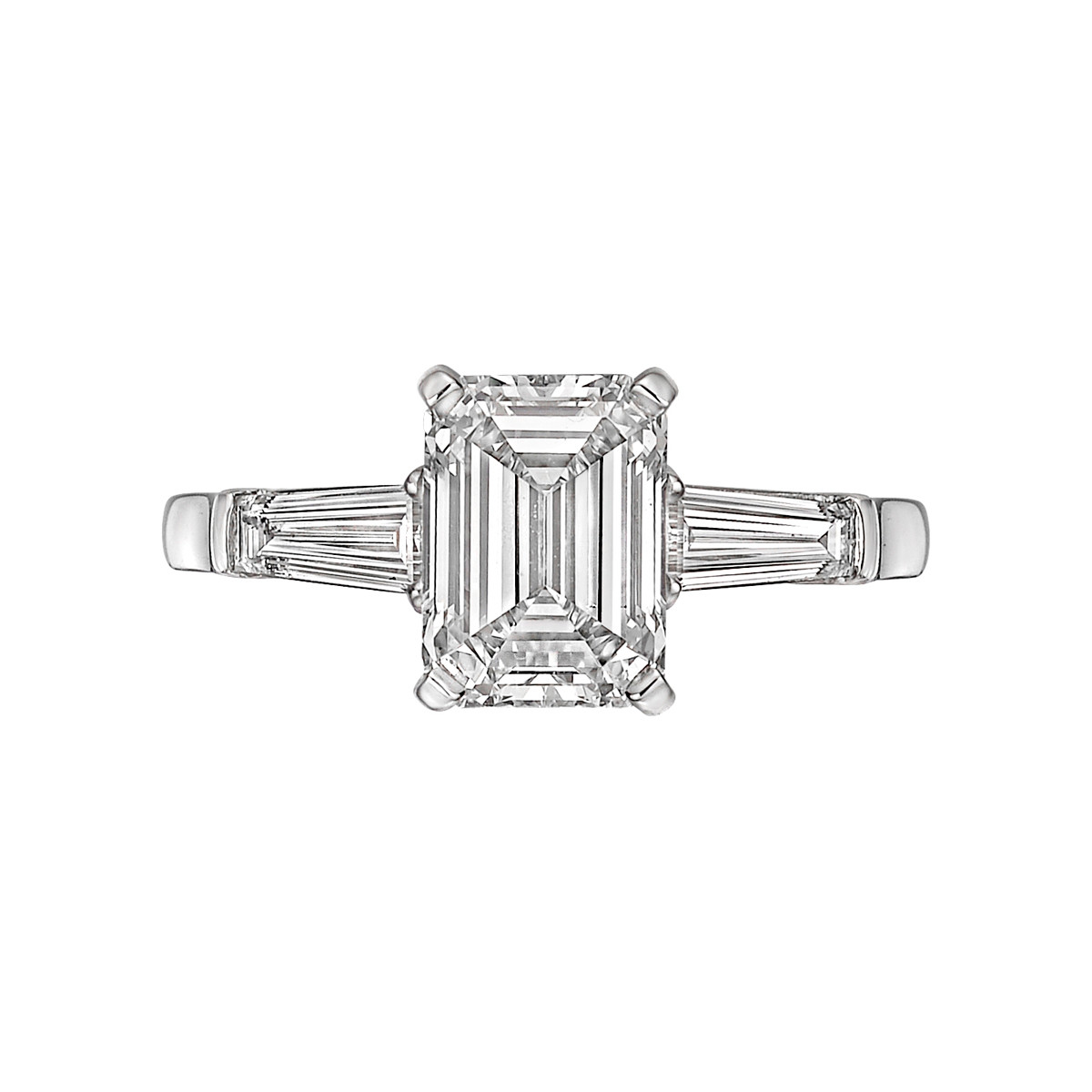 2.01ct Emerald-Cut Diamond Ring (H/VS2)