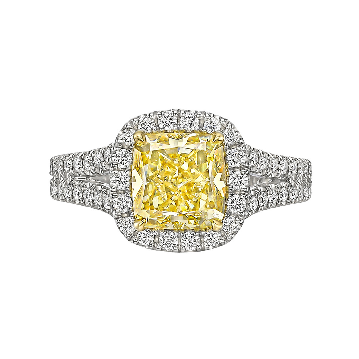 2.01ct Fancy Intense Yellow Diamond Ring (VS1)