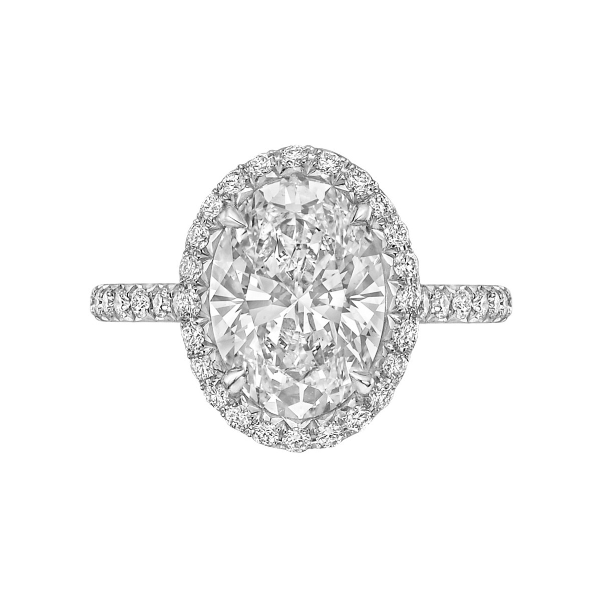 "3.02 Carat Oval Brilliant-Cut Diamond ""Oriana"" Ring"