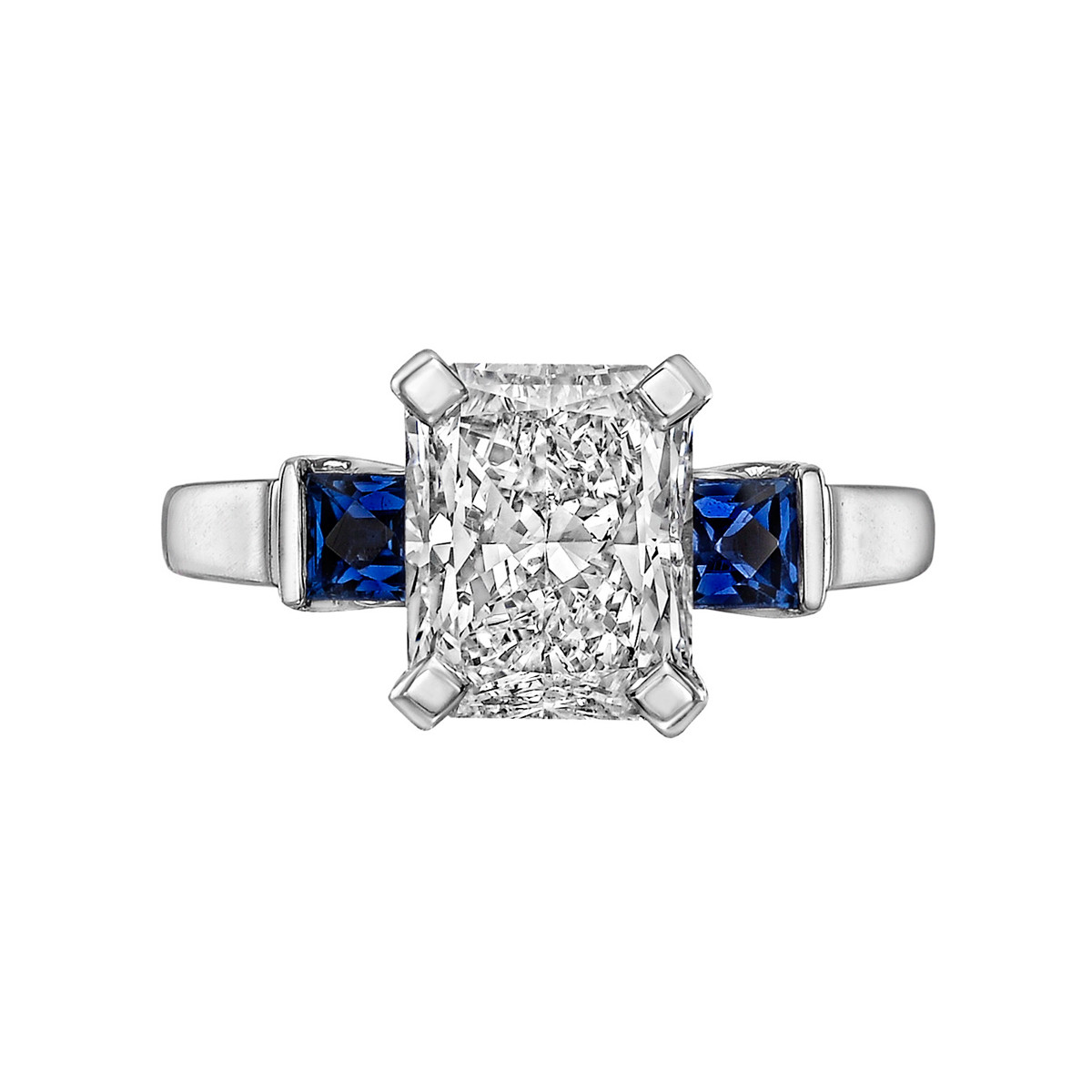 3.00ct Radiant-Cut Diamond Ring (D/VS2)