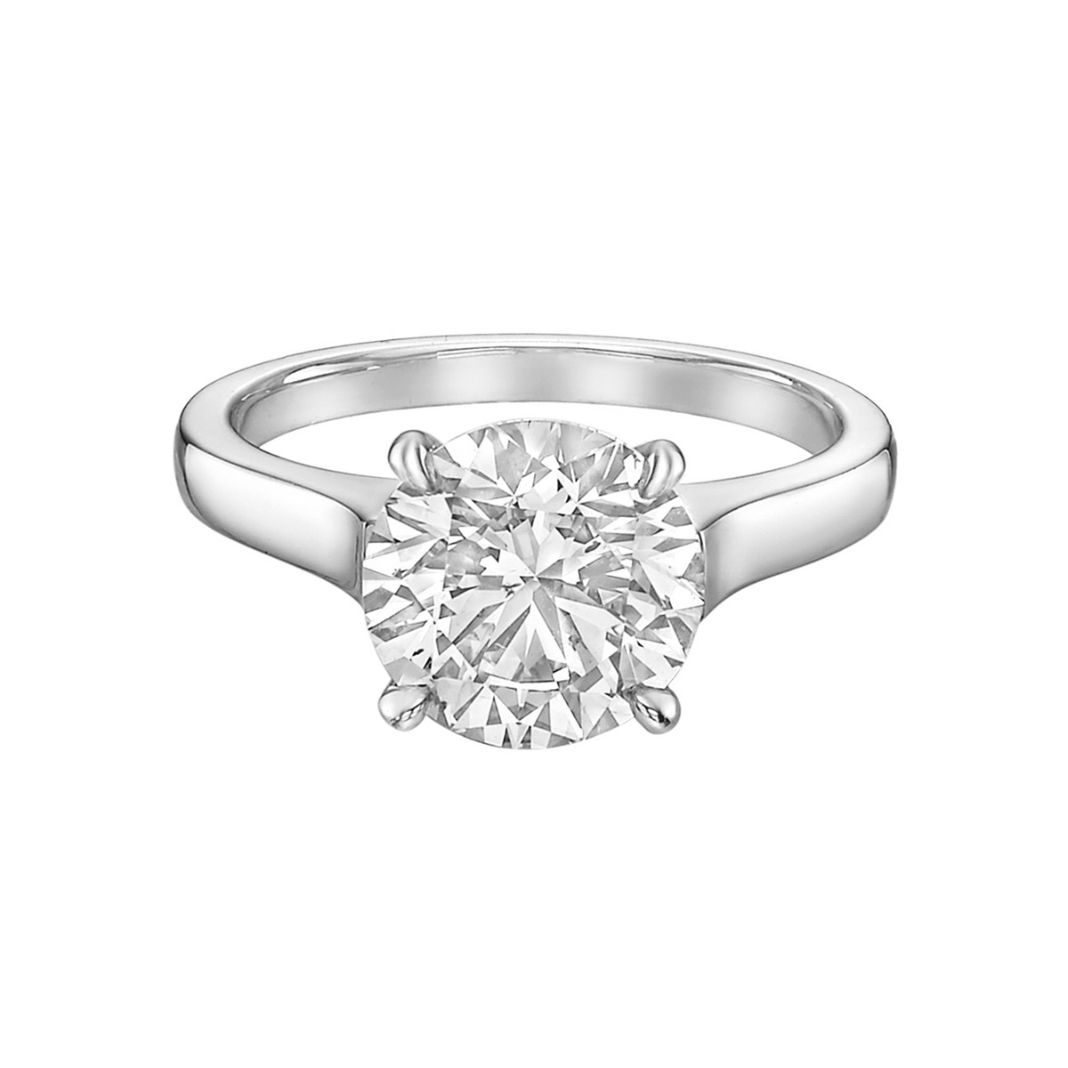 2.71ct Round Brilliant Diamond Solitaire Ring