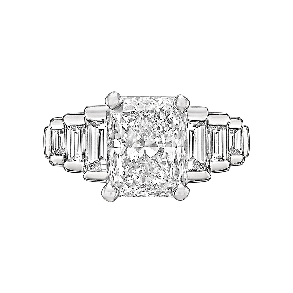 3.00ct Colorless Radiant-Cut Diamond Ring