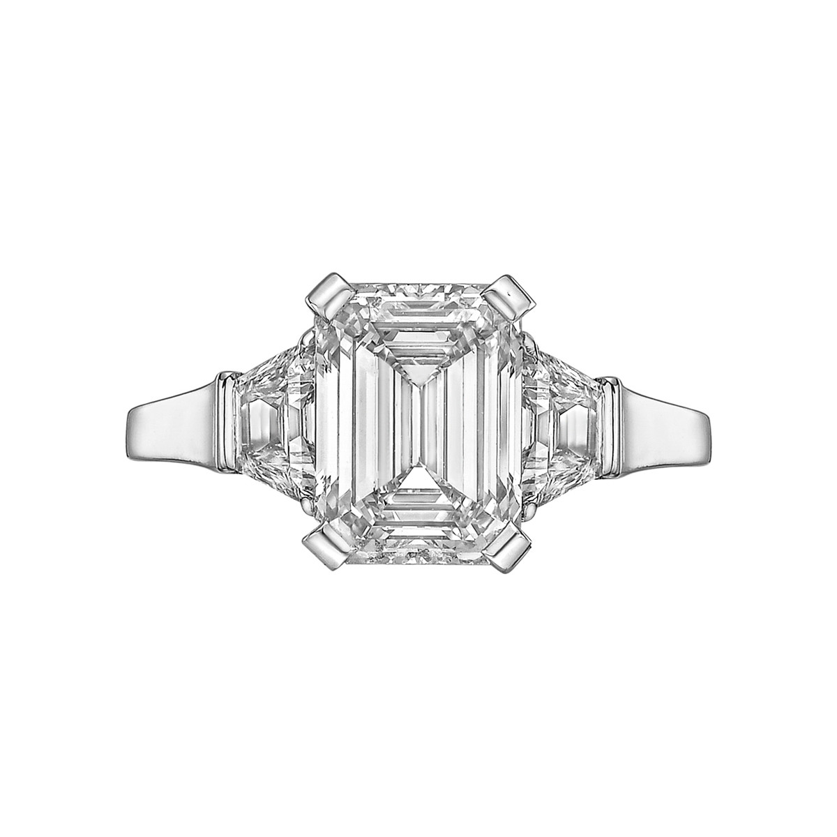 3.01 Carat Emerald-Cut Diamond Ring