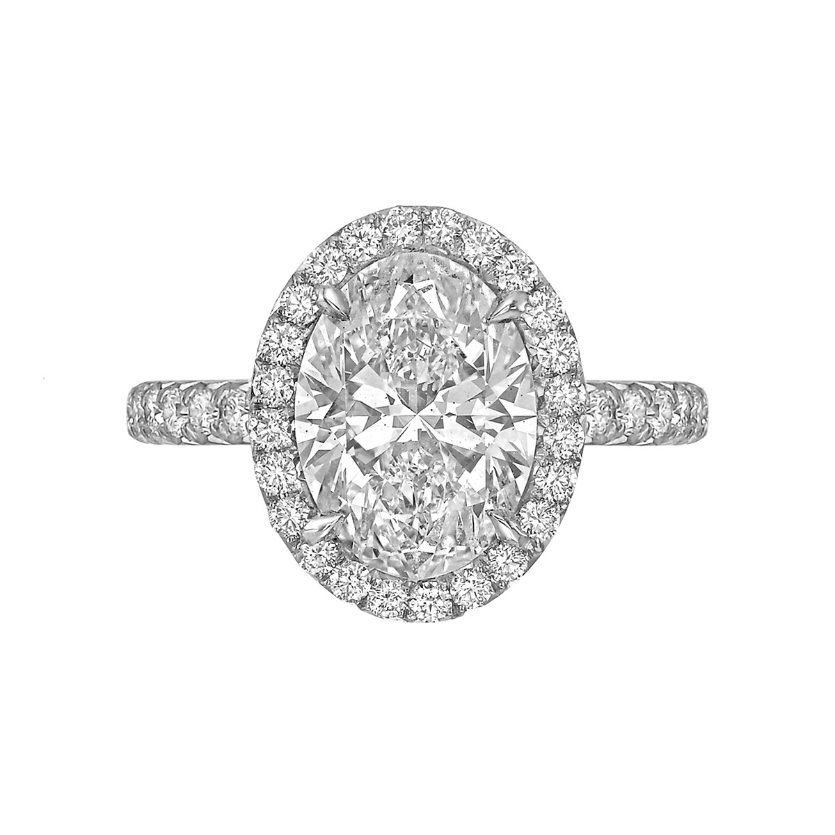 "3.01 Carat Oval Brilliant-Cut Diamond ""Oriana"" Ring"