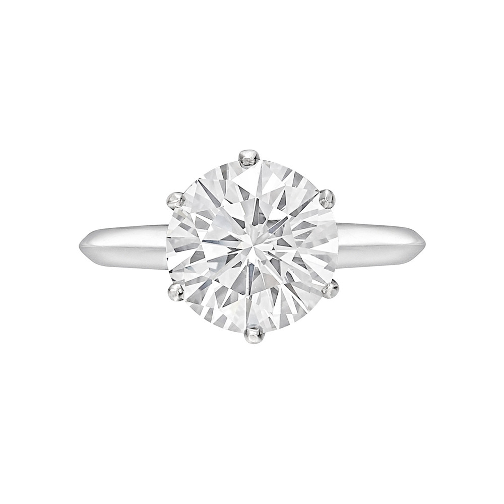 3.02 Carat Round Brilliant Diamond Ring