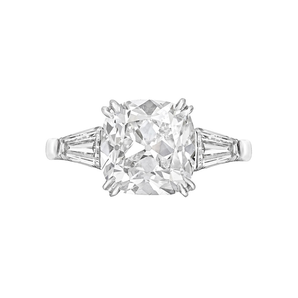Estate 3 03 Carat Cushion Cut Diamond Engagement Ring