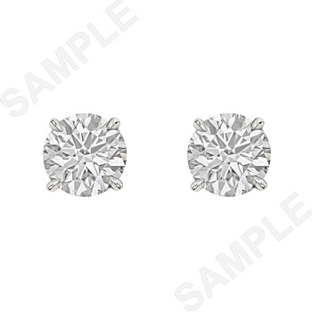 Round Brilliant Diamond Stud Earrings (3.23 ct tw)