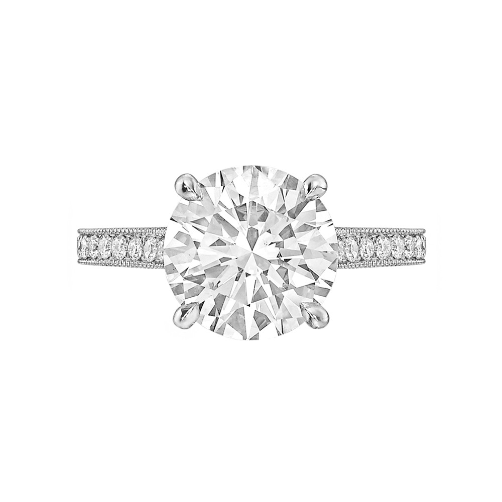 3.23 Carat Round Brilliant Diamond Ring