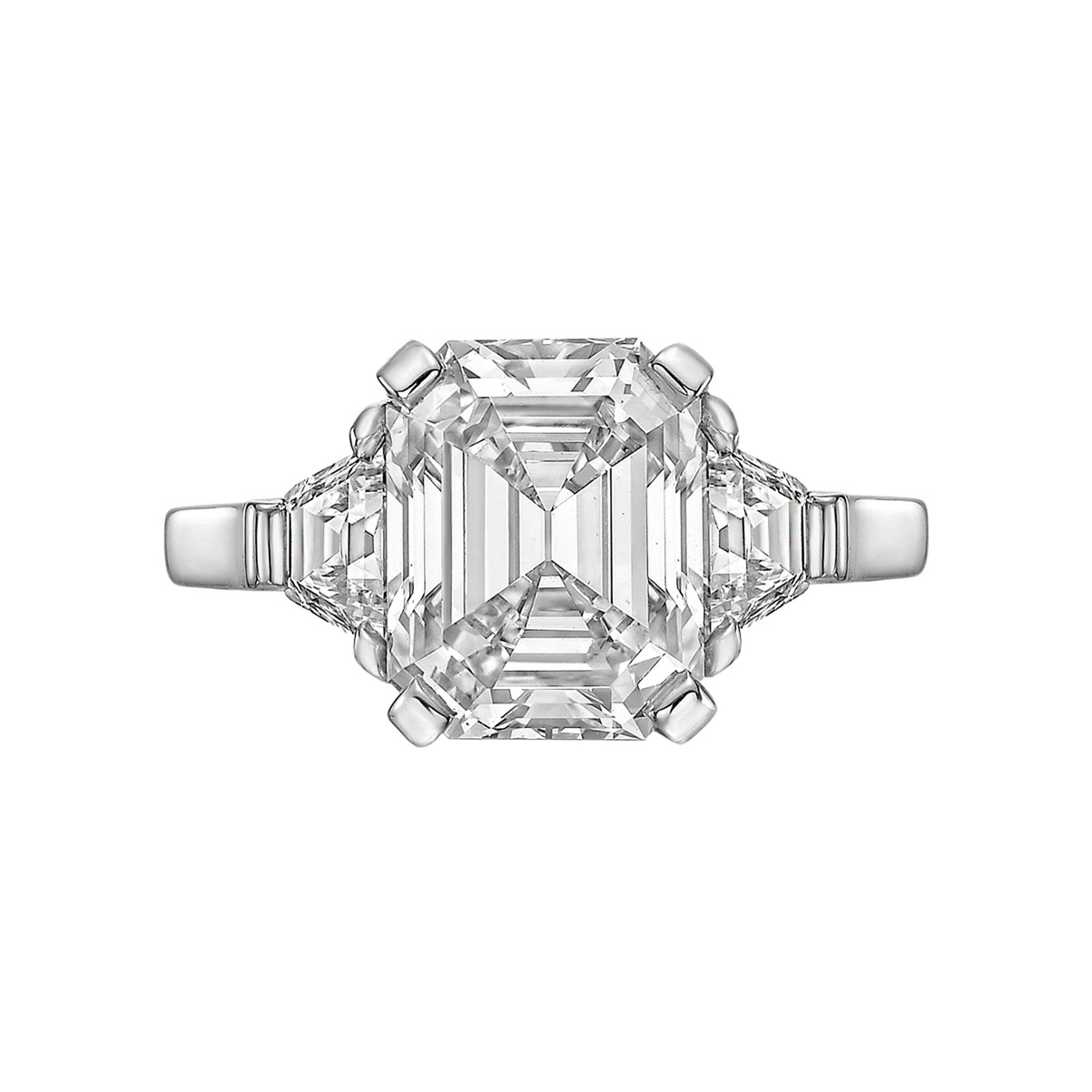 3.24ct Colorless Emerald-Cut Diamond Ring