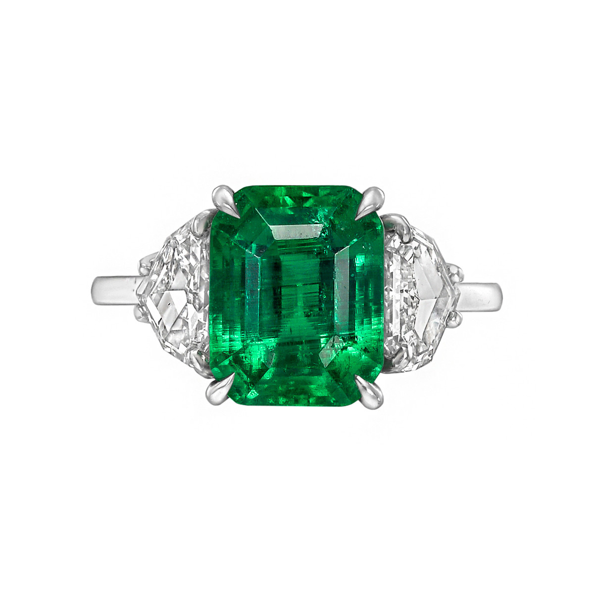 3.41ct Colombian Emerald & Diamond Ring