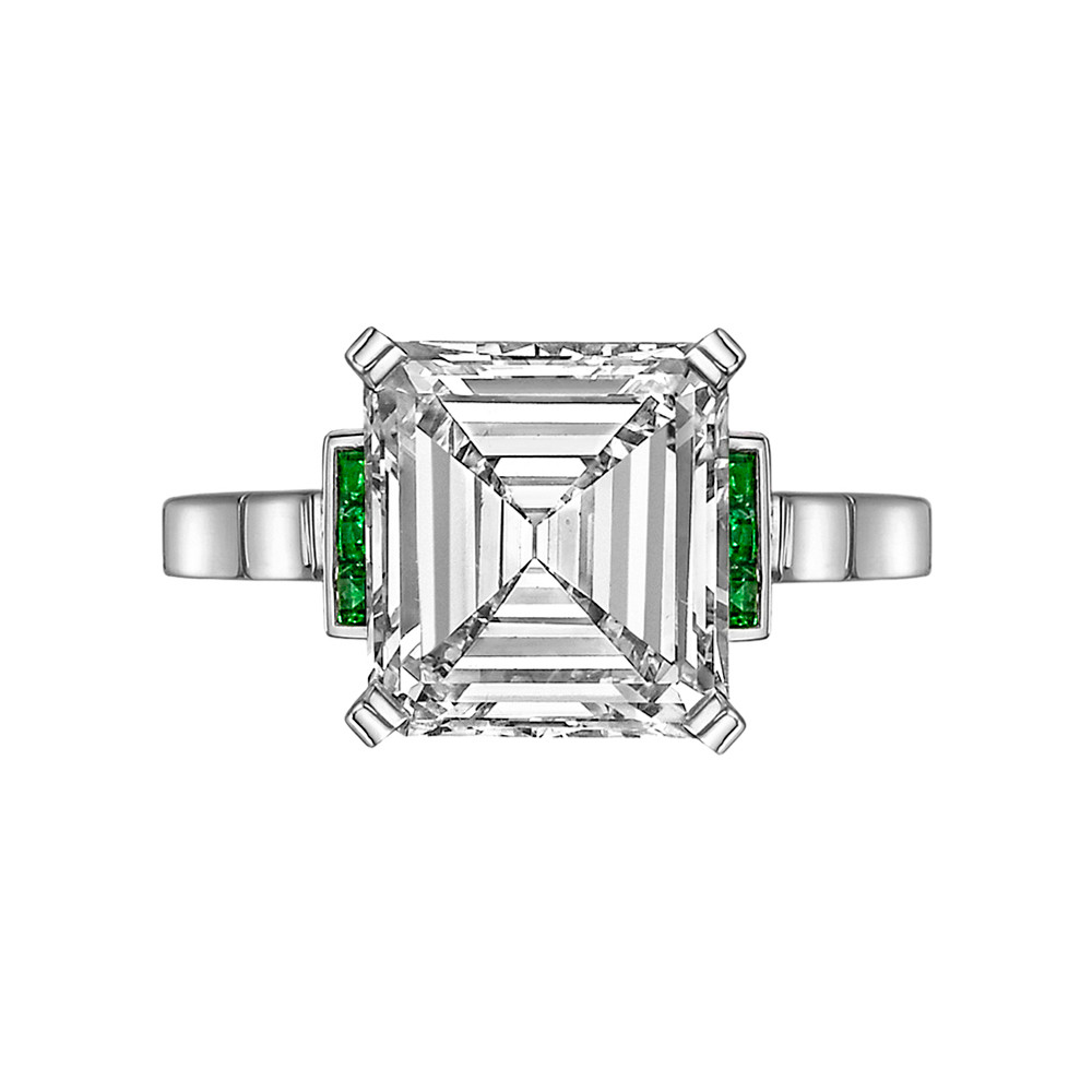 3.43 Carat Emerald-Cut Diamond Ring