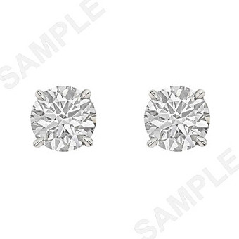 Round Brilliant Diamond Stud Earrings (3.37ct tw)