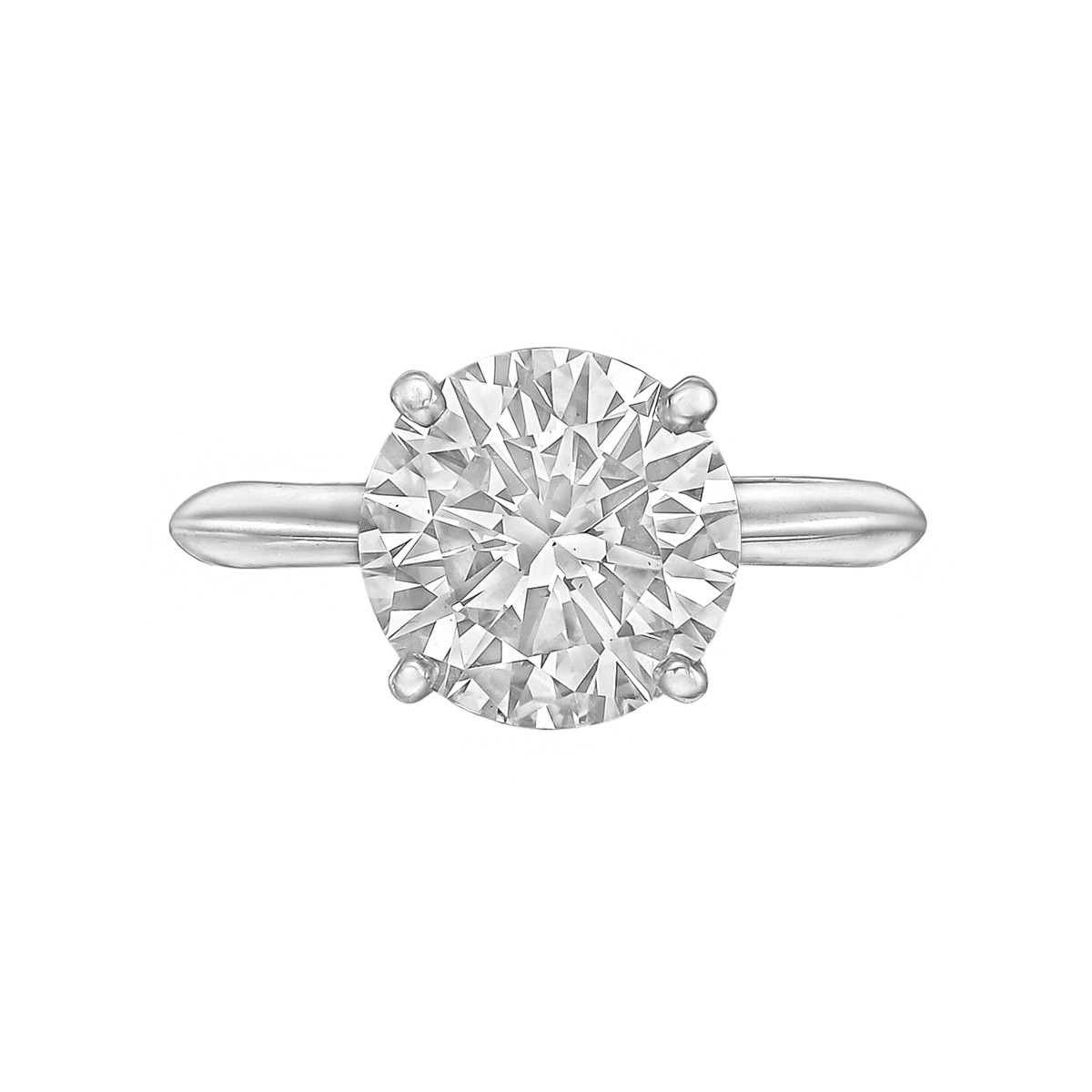 3.51ct Round Brilliant Diamond Solitaire Ring (G/VS2)