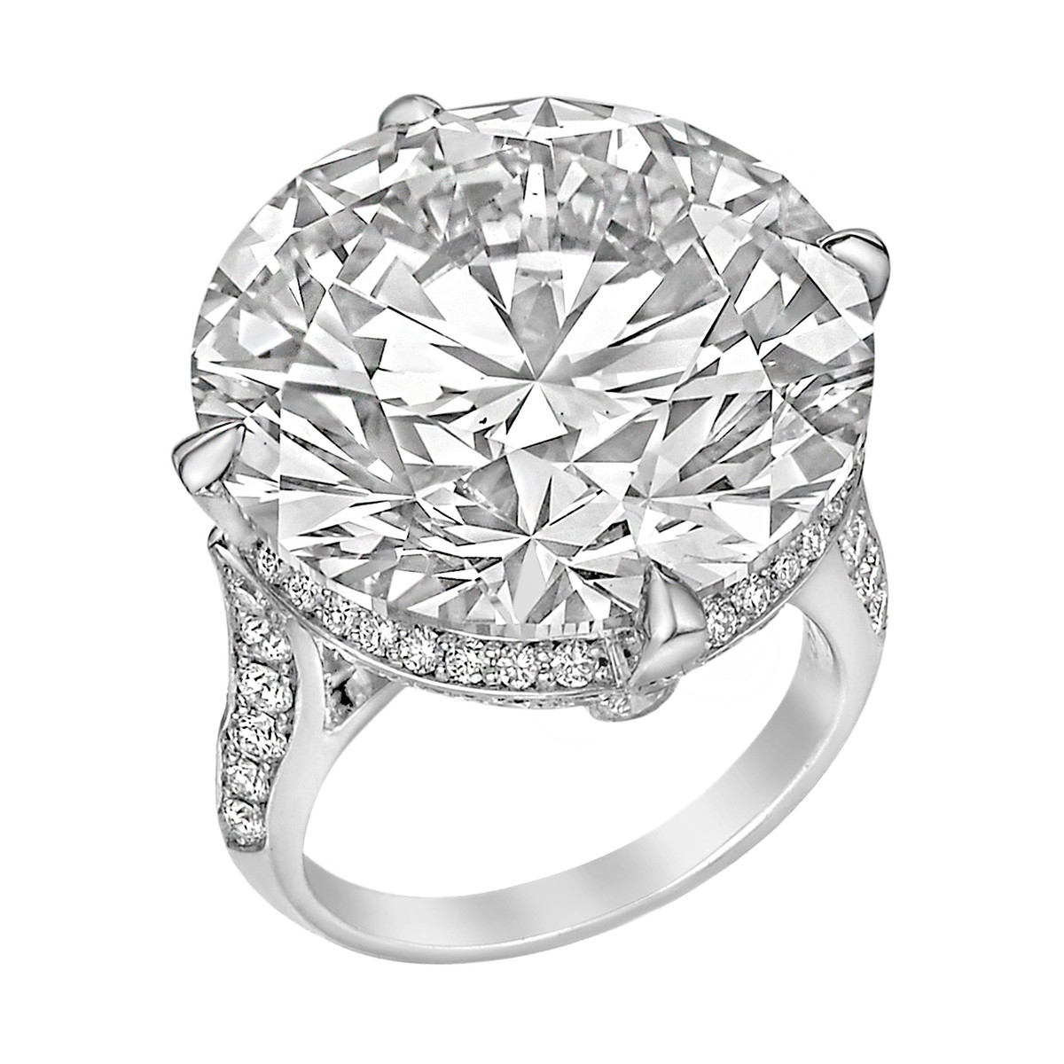30.40ct Round Brilliant Diamond Ring