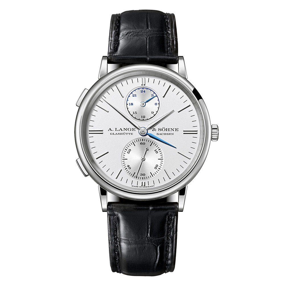 Saxonia Dual Time White Gold (386.026)