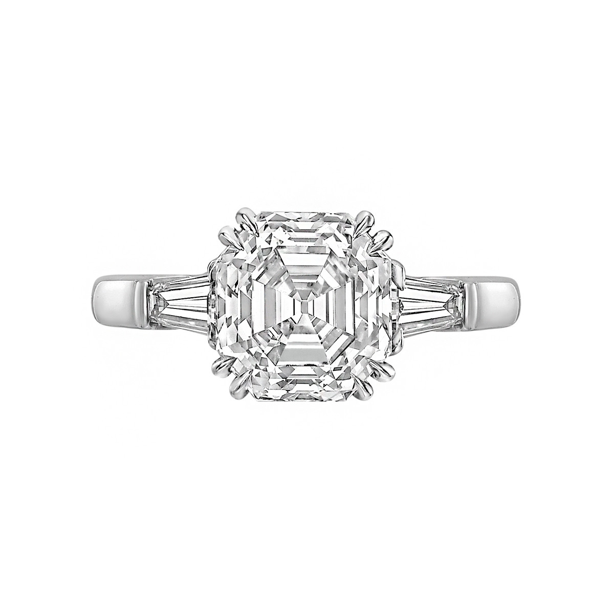 3.09ct Asscher-Cut Diamond Ring