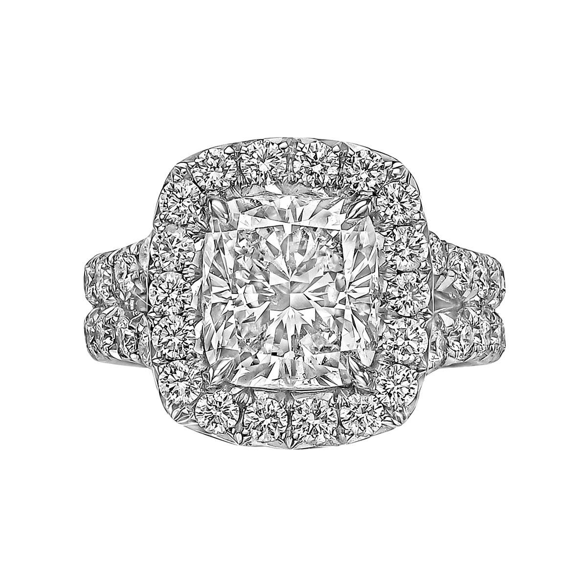 3.03ct Cushion-Cut Diamond Ring (F/SI1)