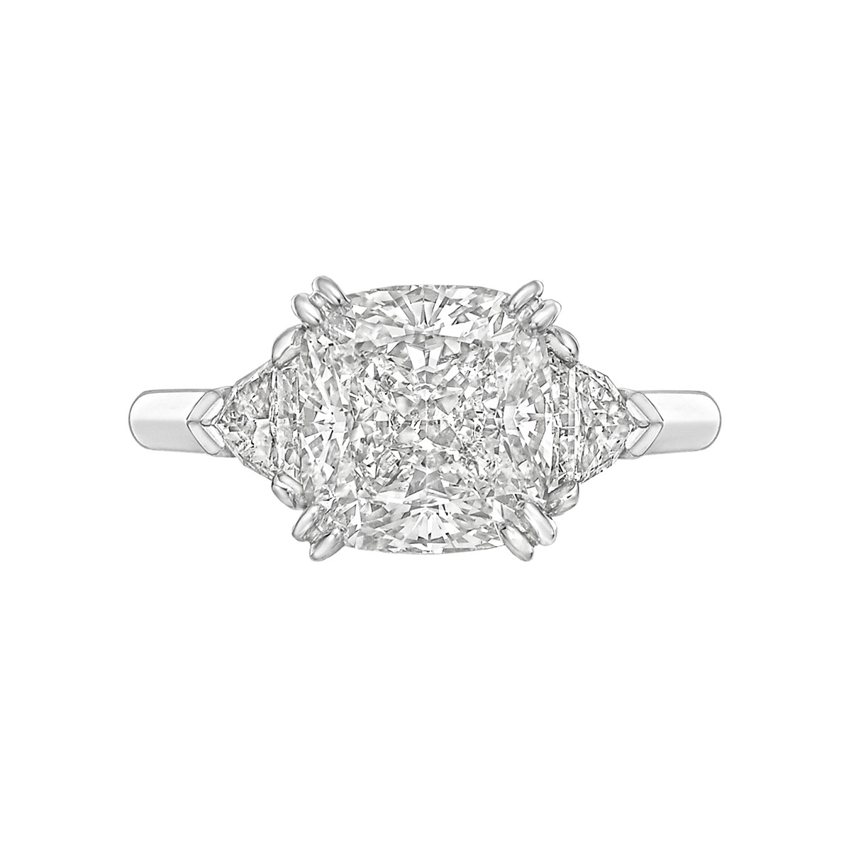 3.51ct Cushion-Cut Diamond Ring