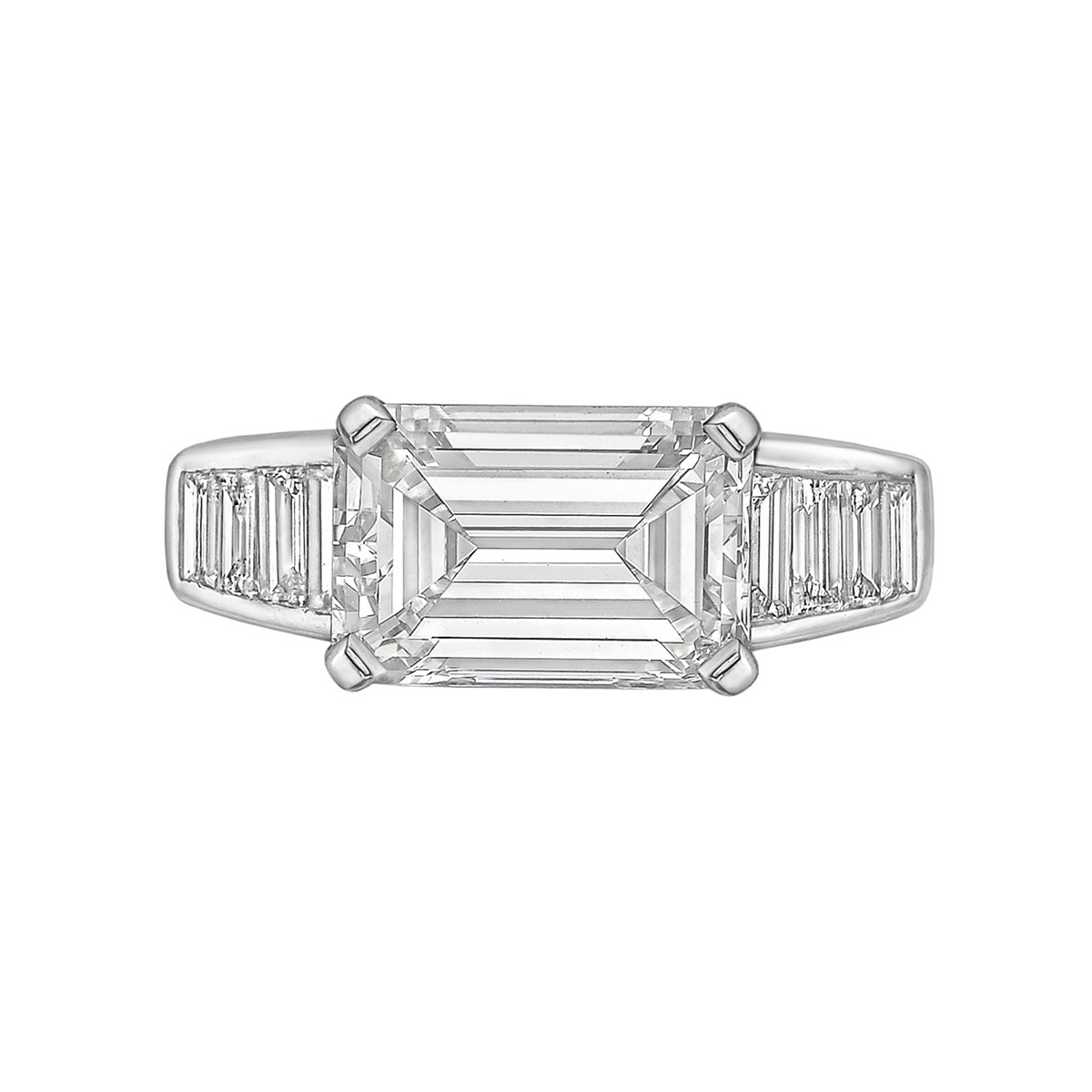 3.00ct Emerald-Cut Diamond East-West Ring