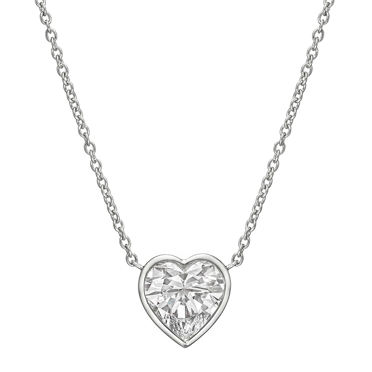 3.03ct Heart-Shaped Diamond Solitaire Pendant