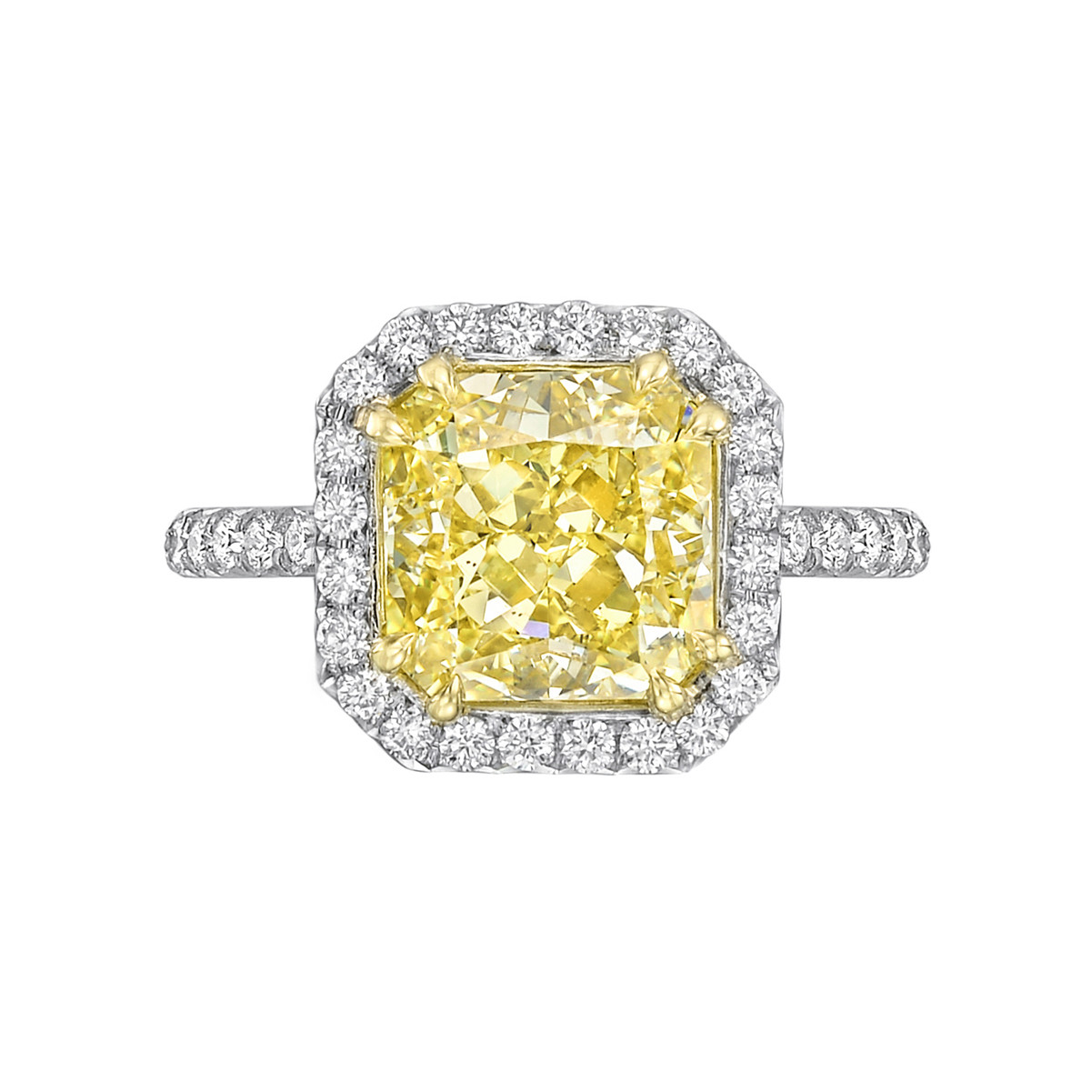 "4.01 Carat Fancy Intense Yellow Diamond ""Oriana"" Ring"