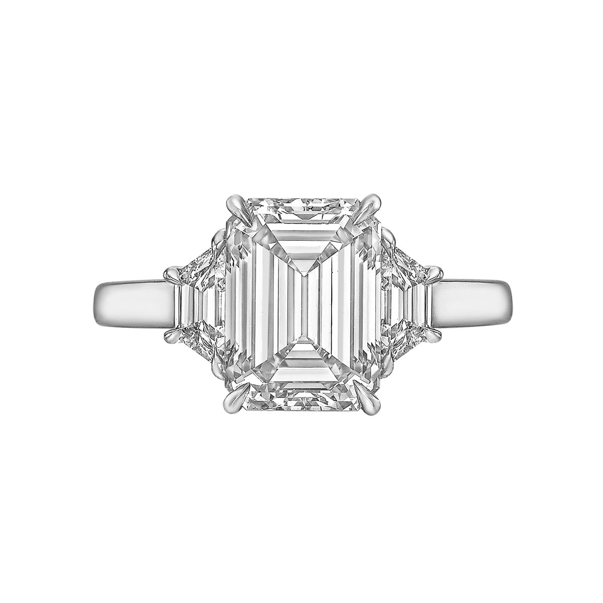 4.01ct Colorless Emerald-Cut Diamond Ring