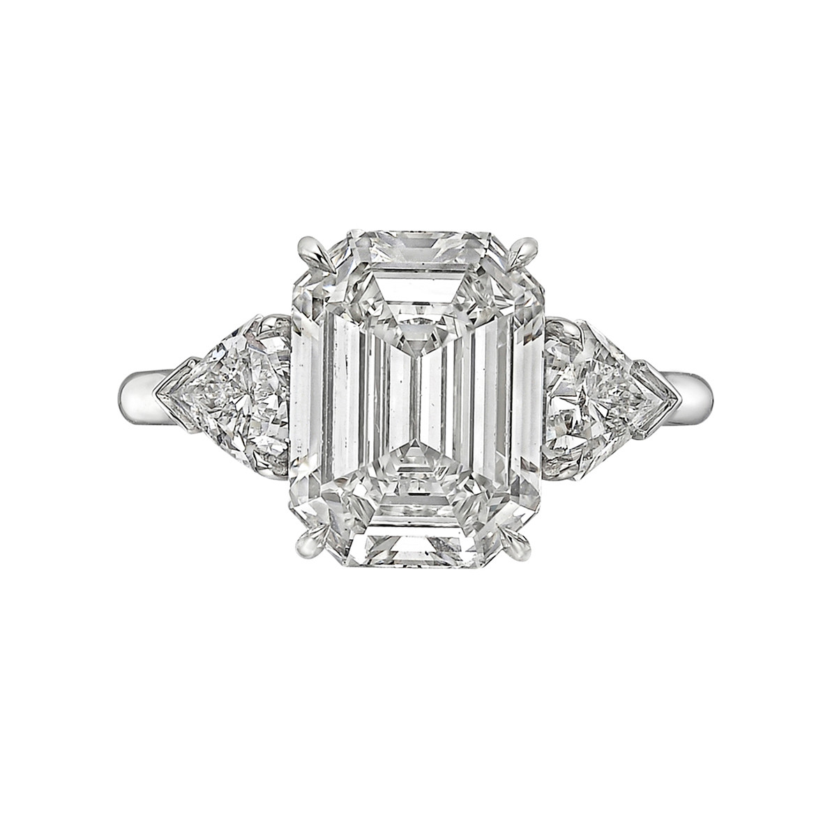 4.01ct Rectangular Step-Cut Diamond Ring (G/VS1)