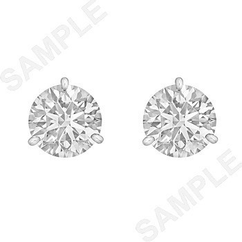 Round Brilliant Diamond Stud Earrings (4.04 ct tw)