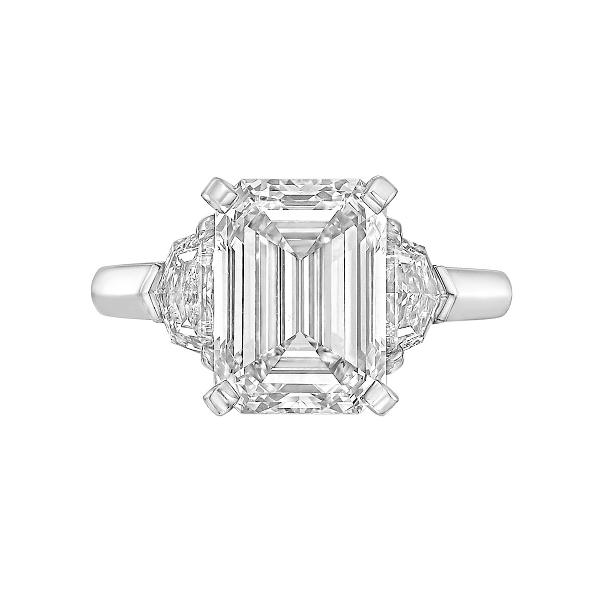 4.11 Carat Emerald-Cut Diamond Ring