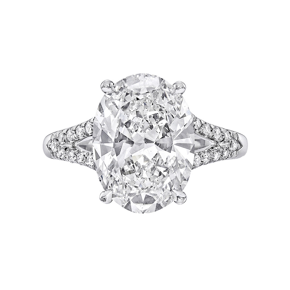 4.17ct Oval Brilliant-Cut Diamond Split Ring