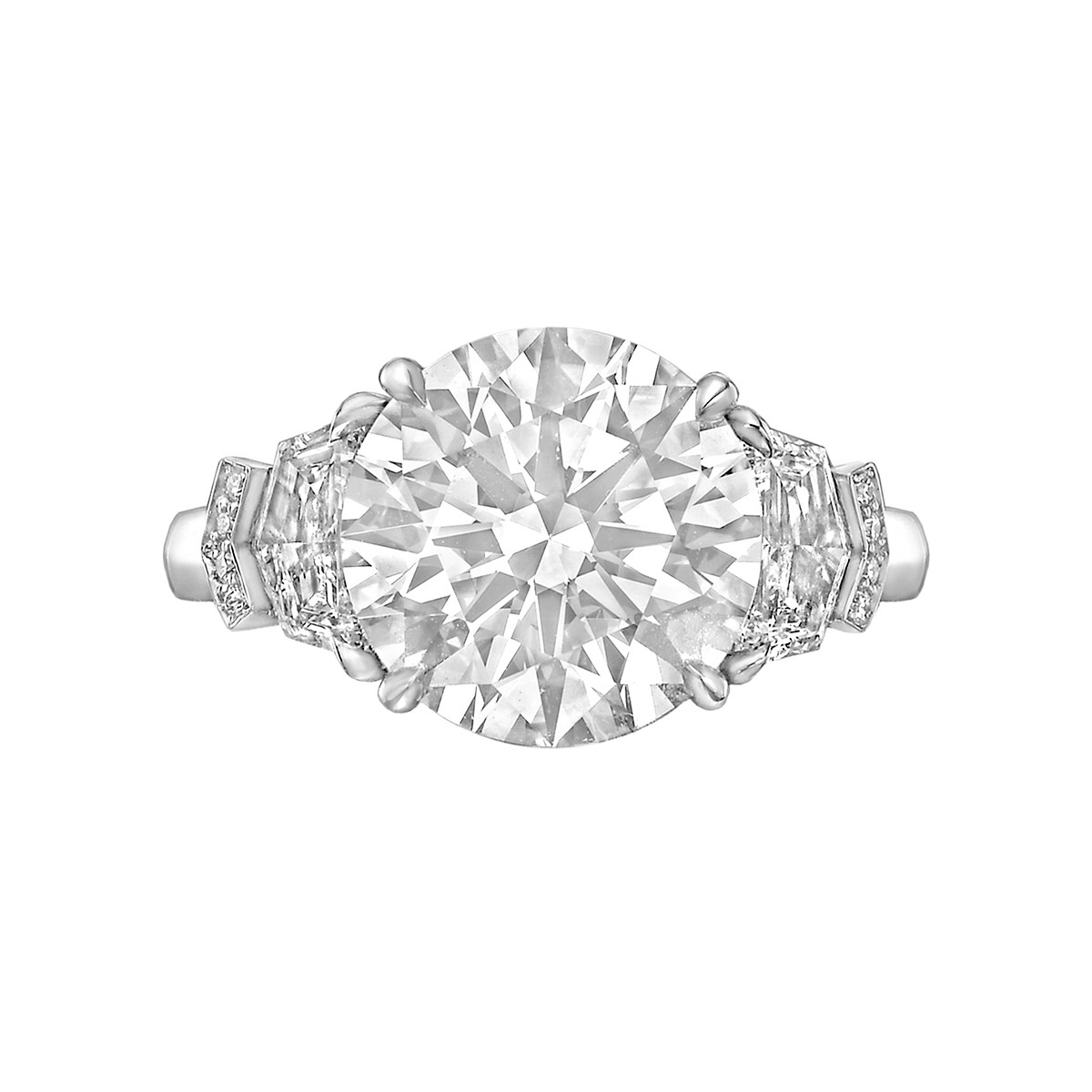 4.36 Carat Round Brilliant Diamond Ring